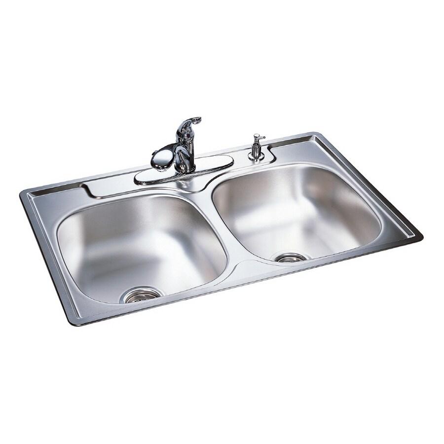 Franke DoubleBasin Stainless Steel Topmount Kitchen Sink