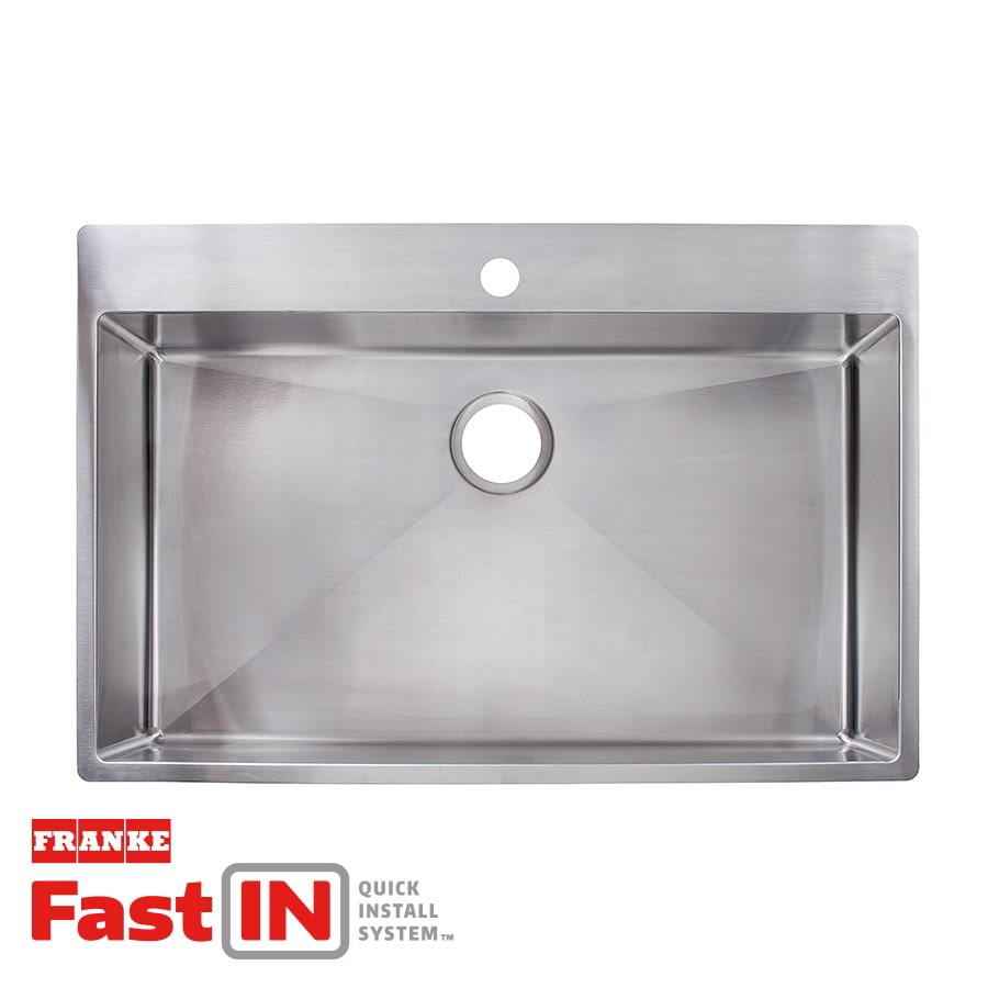 Shop Franke FastIn 335in x 225in Stainless Steel
