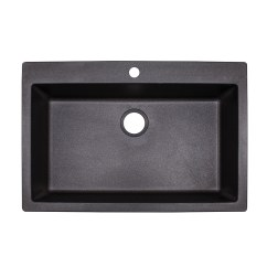 Black Kitchen Sink Lowes Create Layout Franke Primo 33 In X 22 Graphite Single Basin Drop Or Undermount 4 Hole Commercial Residential