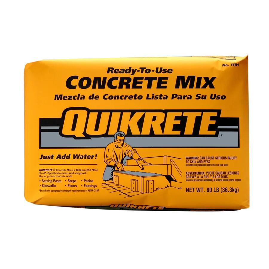 Quikrete Lb Concrete Mix Coverage