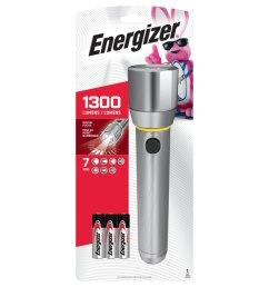 energizer vision hd performance metal light 1300 lumen led flashlight battery included  [ 900 x 900 Pixel ]