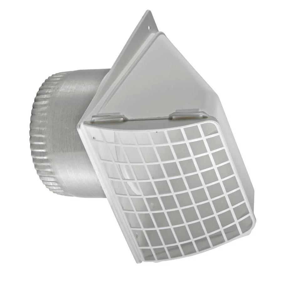 lambro 4 in dia plastic preferred with guard dryer vent hood