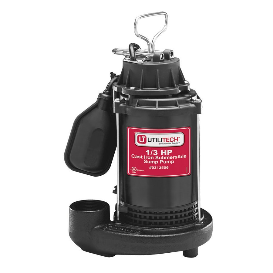 medium resolution of utilitech 0 33 hp cast iron submersible sump pump