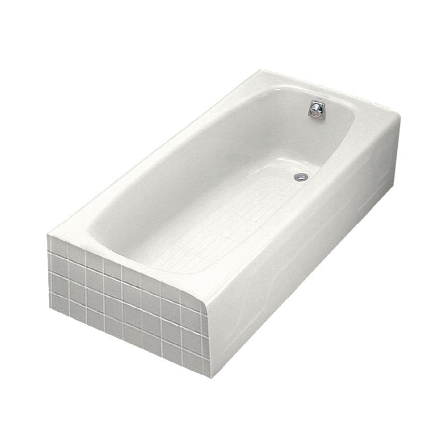 Shop KOHLER Dynametric 60 In White With Right Hand Drain