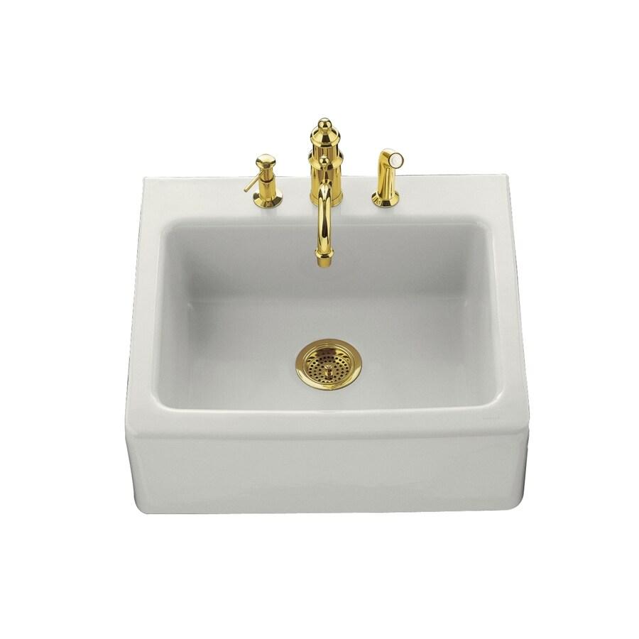single basin fireclay tile