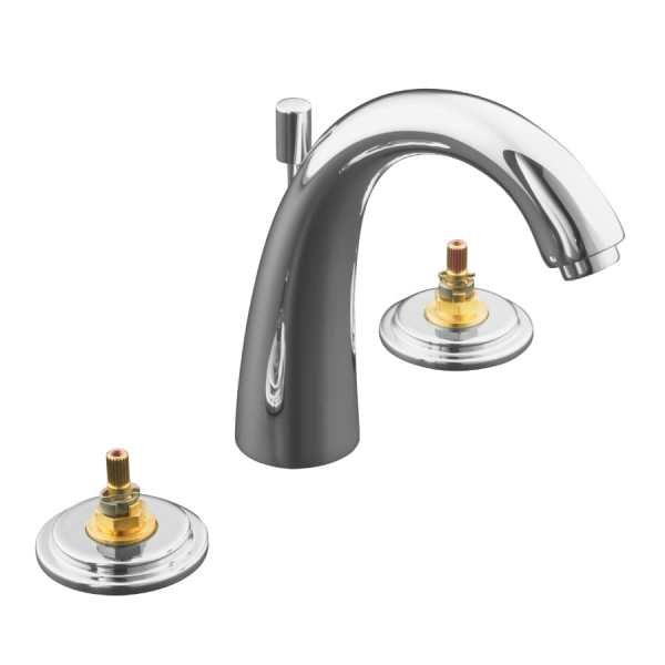 Kohler Taboret Polished Chrome 2-handle Widespread Watersense Bathroom Sink Faucet With Drain