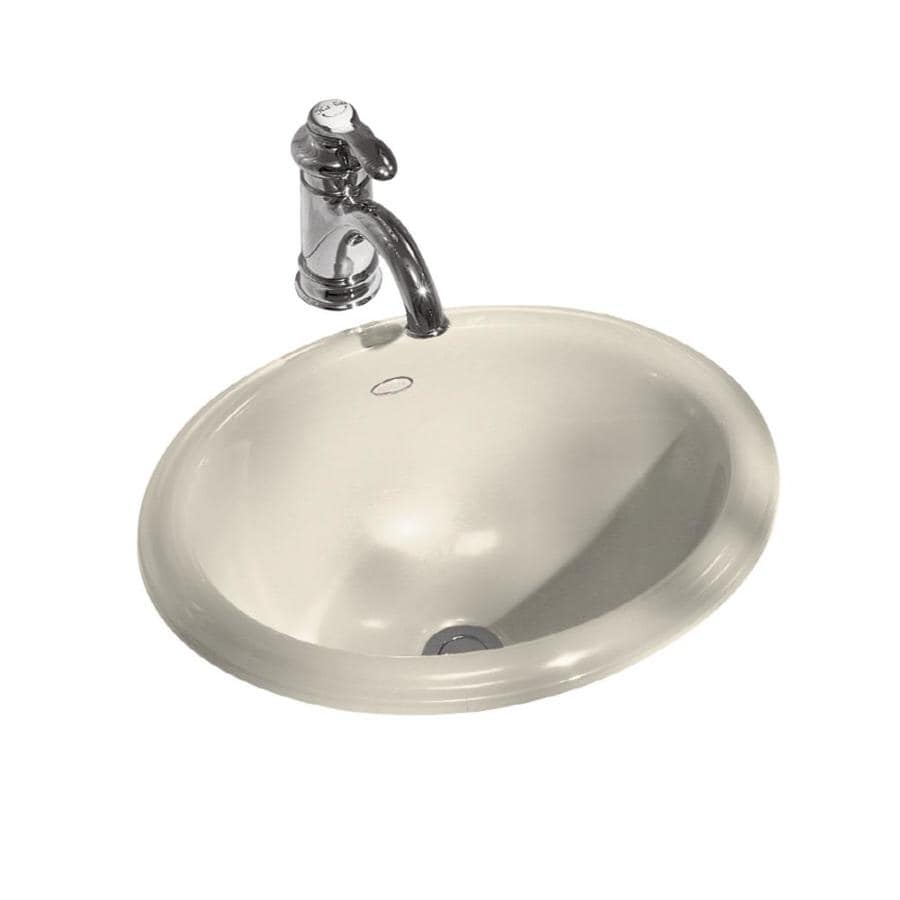 KOHLER Intaglio Almond DropIn Oval Bathroom Sink at Lowescom