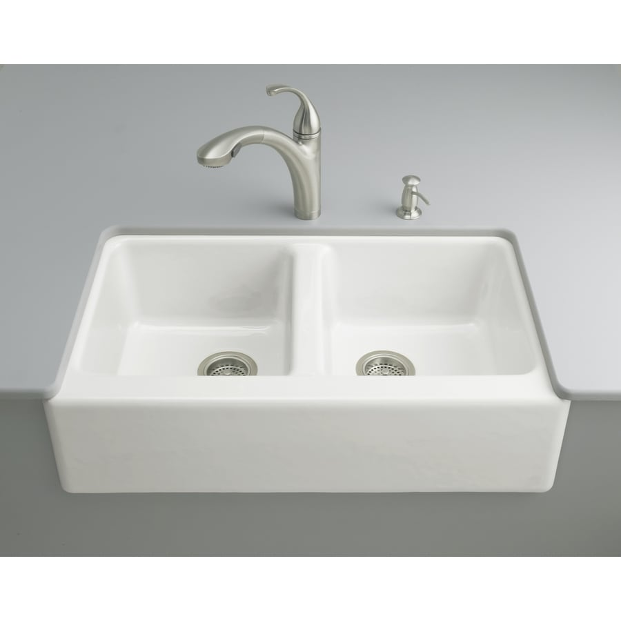 Shop KOHLER Hawthorne 2212 In X 33 In White Double Basin