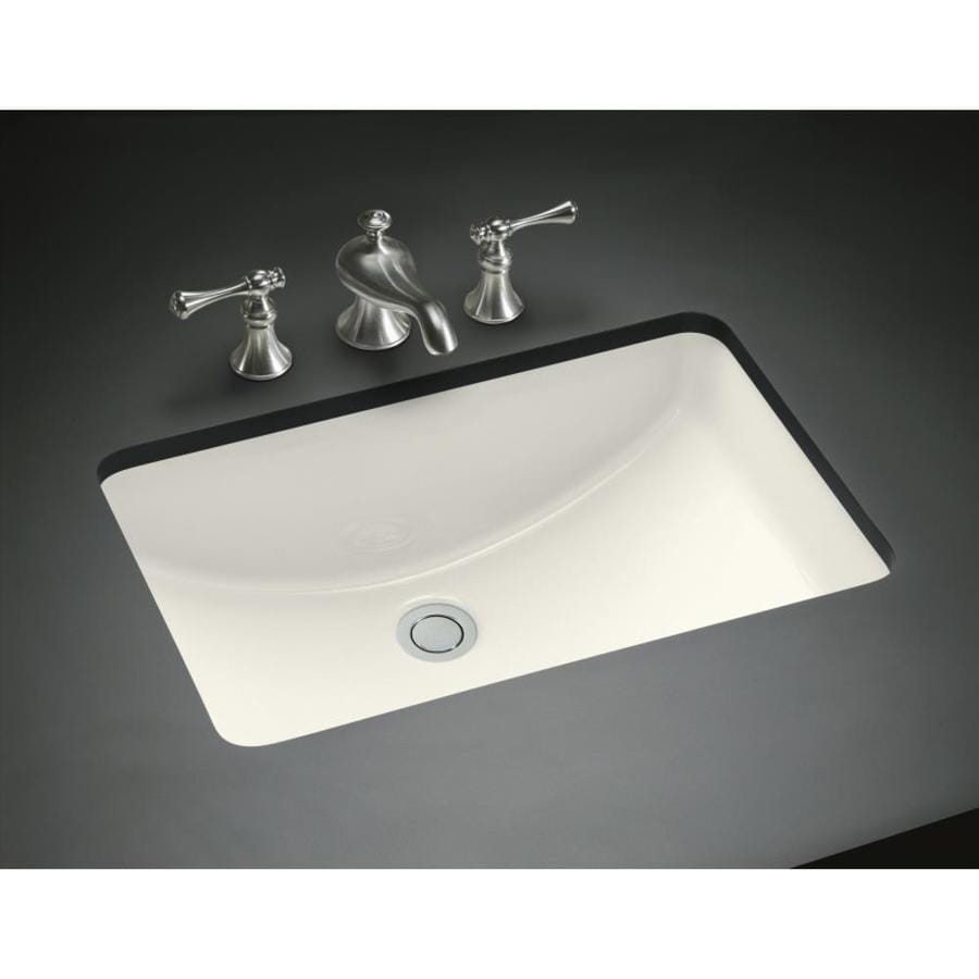 KOHLER Ladena Biscuit Undermount Rectangular Bathroom Sink