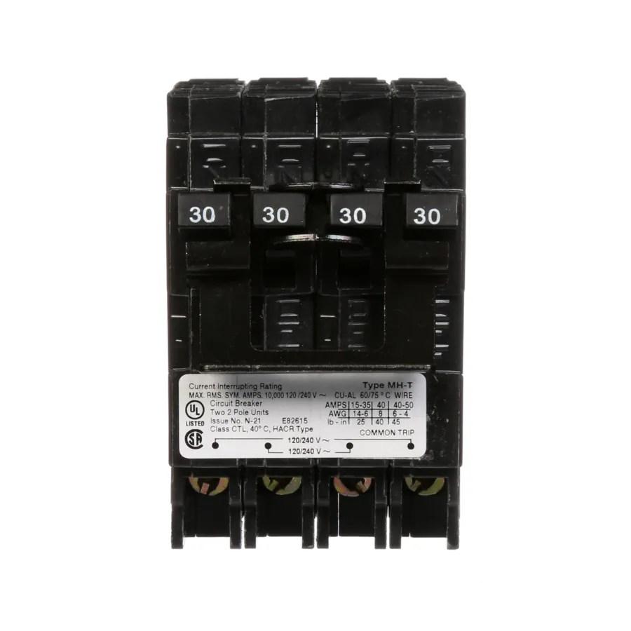 medium resolution of siemens qp 30 amp 2 pole quad circuit breaker