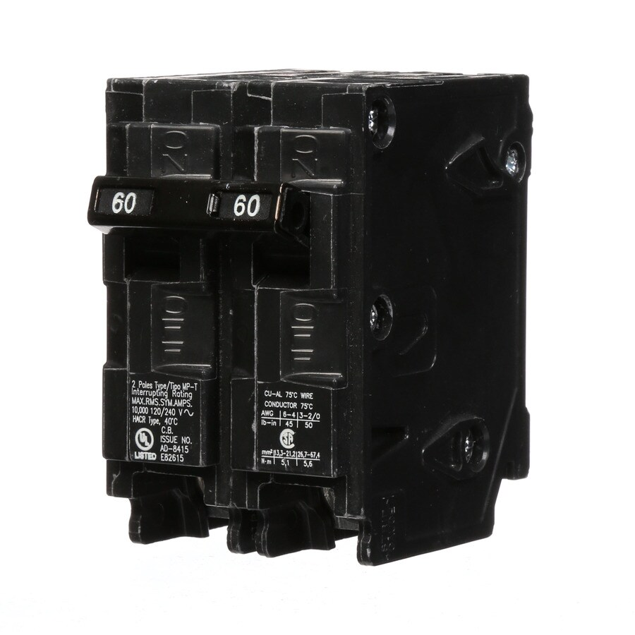hight resolution of shop murray mp 60 amp 2 pole main circuit breaker at lowes com 60 amp gfci