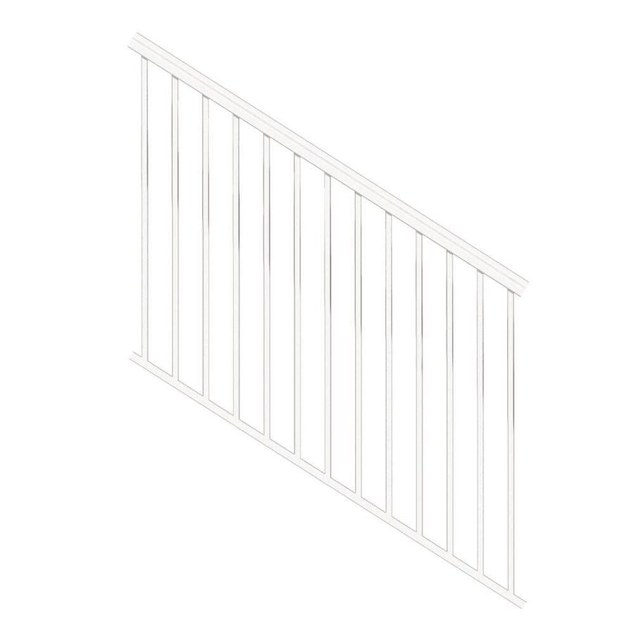 Freedom Versarail Stair White Aluminum Deck Stair Rail Kit With   Lowes Wood Stair Railing   Stair Parts   Deck Stairs   Baluster   Stair Tread   Porch