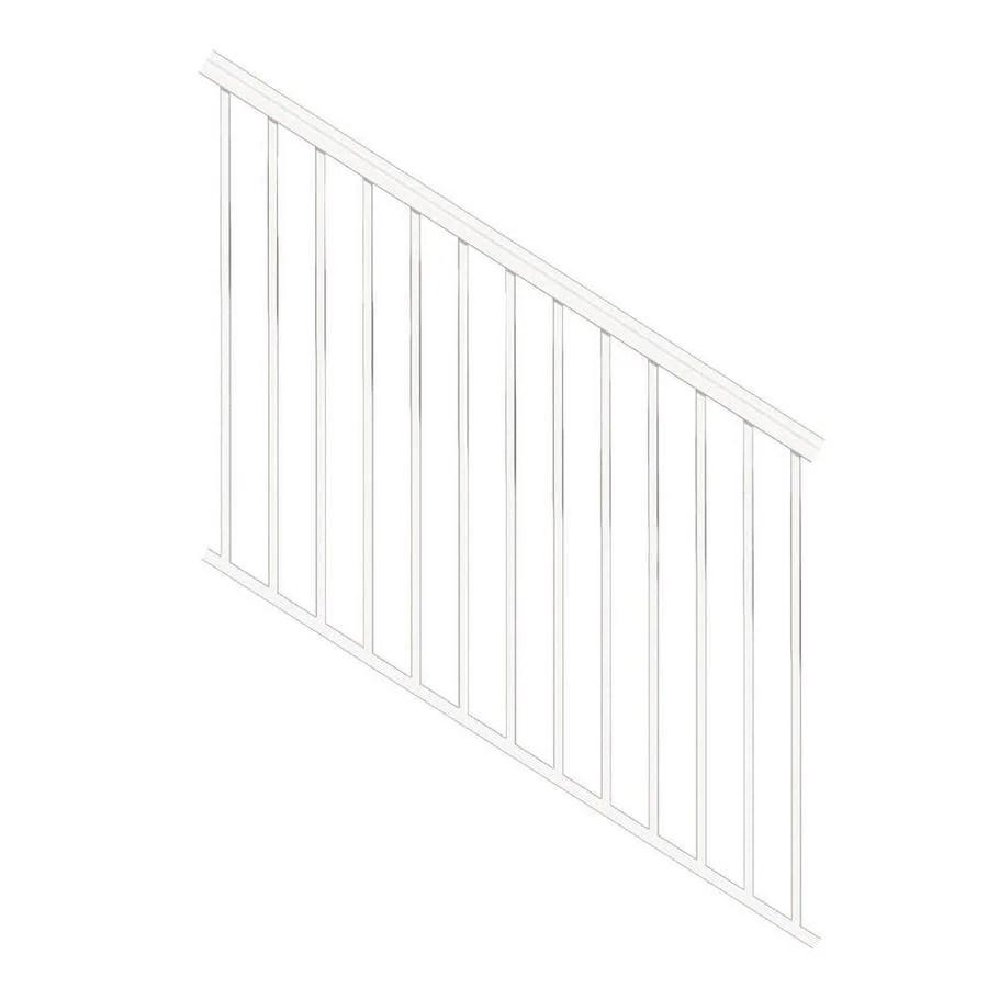 Freedom Versarail Stair White Aluminum Deck Stair Rail Kit With | Pressure Treated Stair Handrail | Sturdy | Step | Deck Rail | Long Deck | Treated Lumber