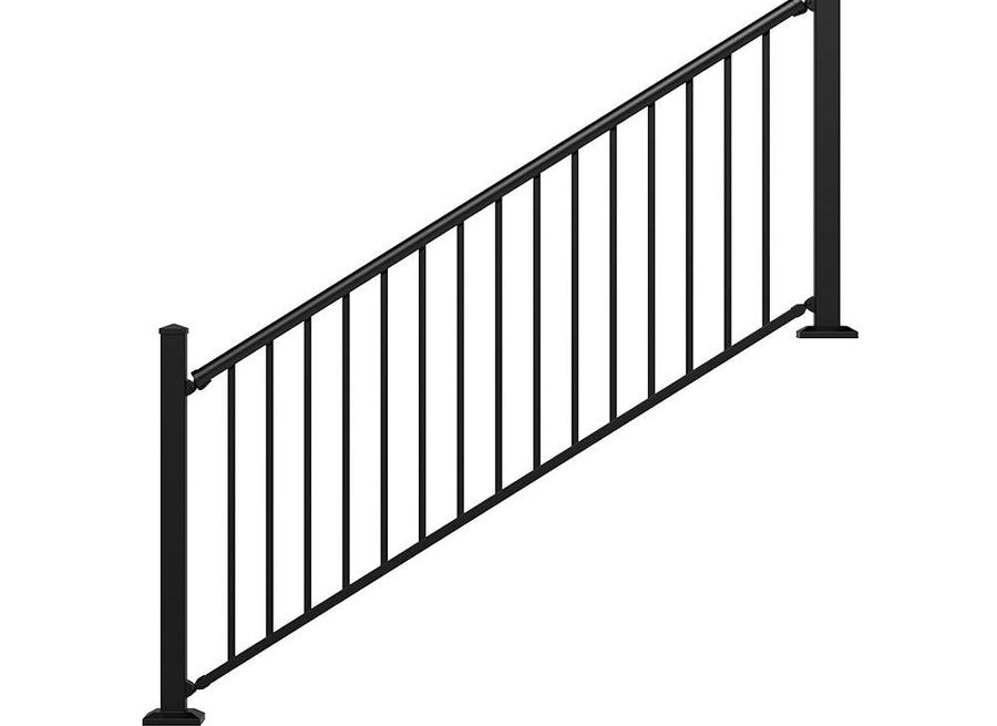 Stair Rail Deck Railing At Lowes Com | Lowes Exterior Handrails For Steps | Concrete | Aluminum Handrail Kit | Deck Stair | Wrought Iron | Baluster
