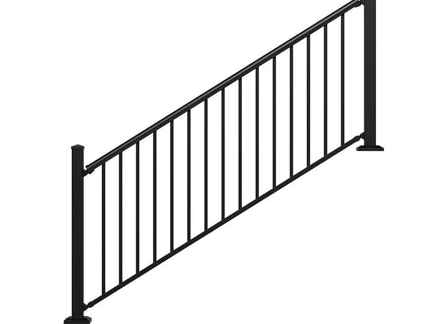 Stair Rail Deck Railing At Lowes Com | Aluminum Railings For Steps | Verandah | Glass Railing | Pipe | Indoor | Glass Panel Wooden Handrail