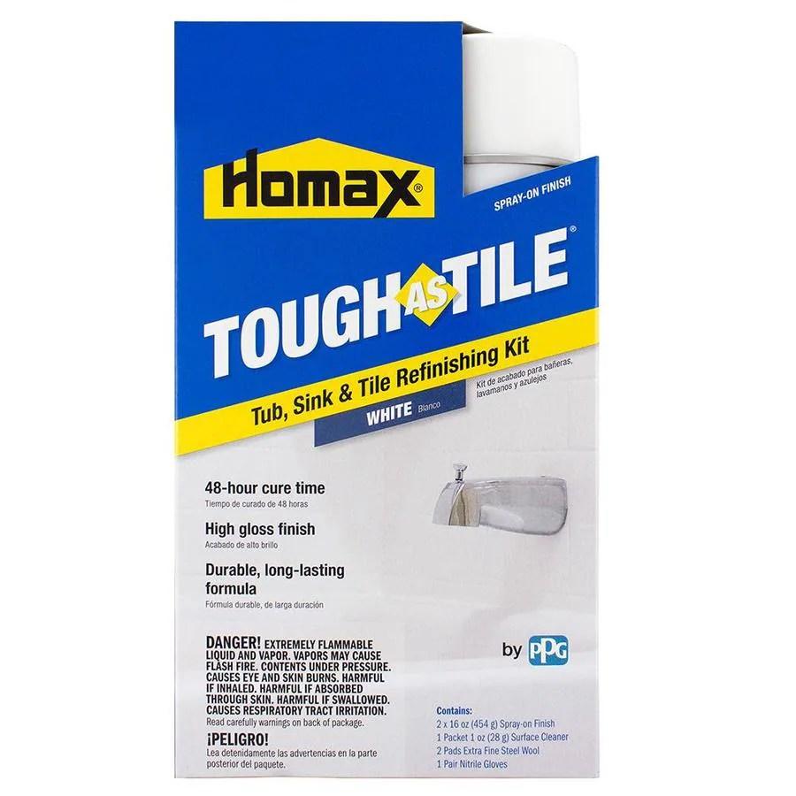 tough as tile tough as tile 32 fl oz white tub and tile chip repair kit