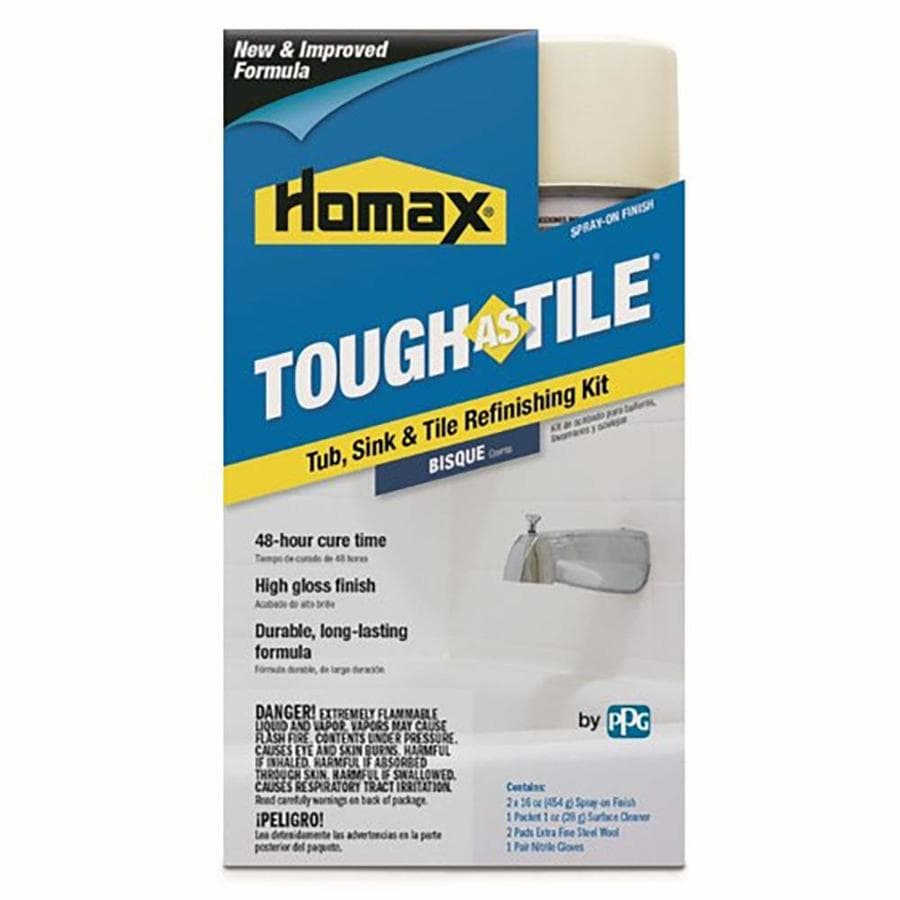 tough as tile bisque gloss tub and tile resurfacing kit