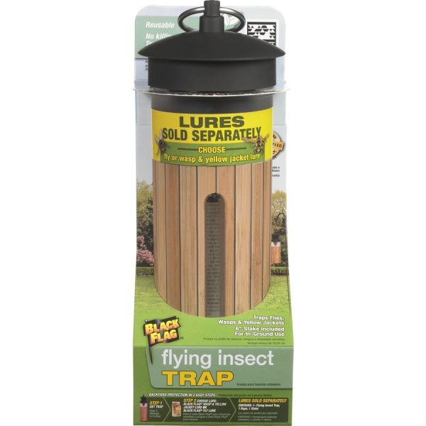 Black Flag Flying Insect Trap