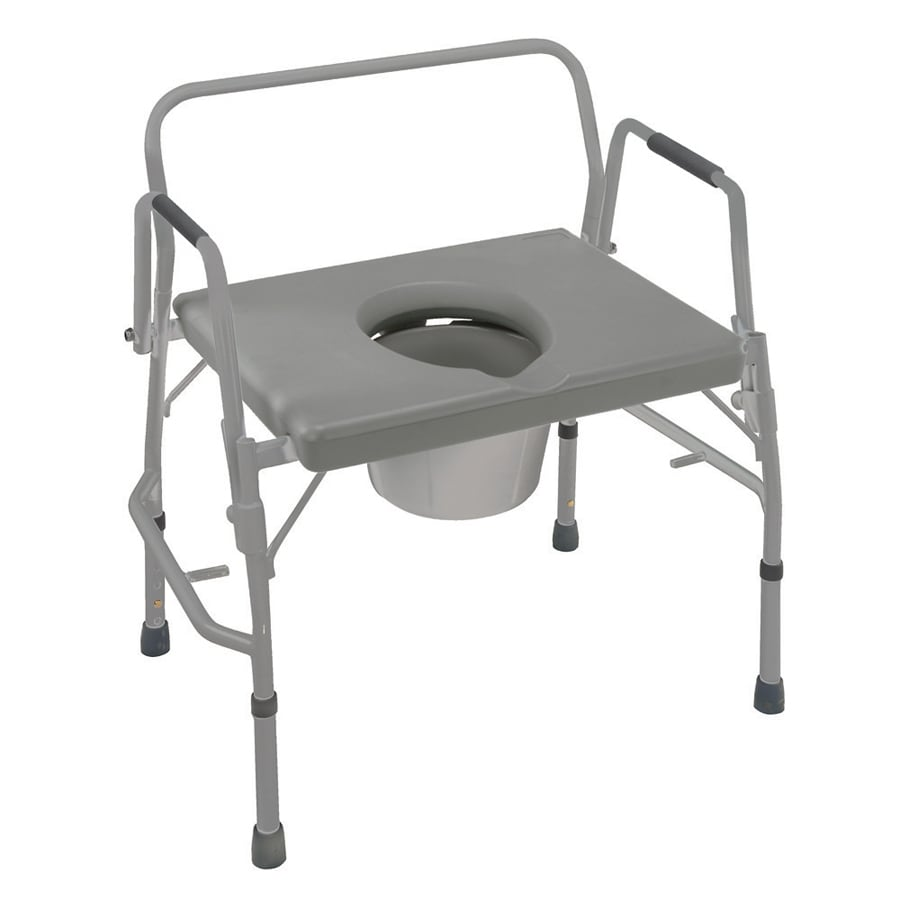 Bedside Commode Chair Dmi 23 In 7 Quart Adjustable Bedside Commode At Lowes