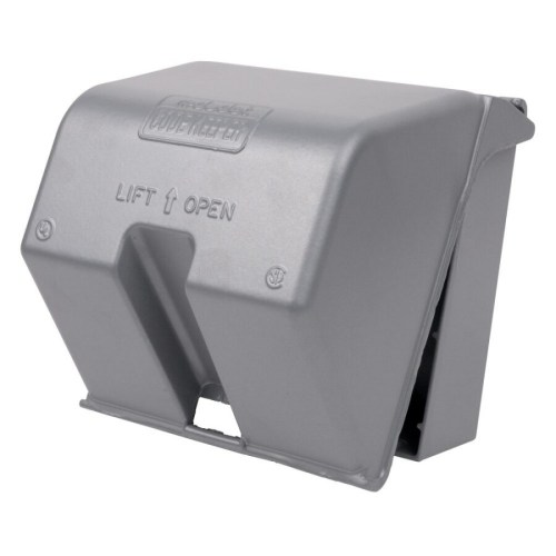 small resolution of reddot 2 gang square metal weatherproof electrical box cover