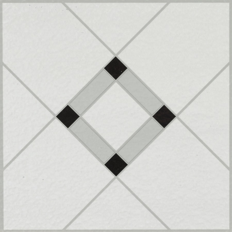 armstrong flooring black white 12 in x 12 in water resistant peel and stick vinyl tile 1 sq ft