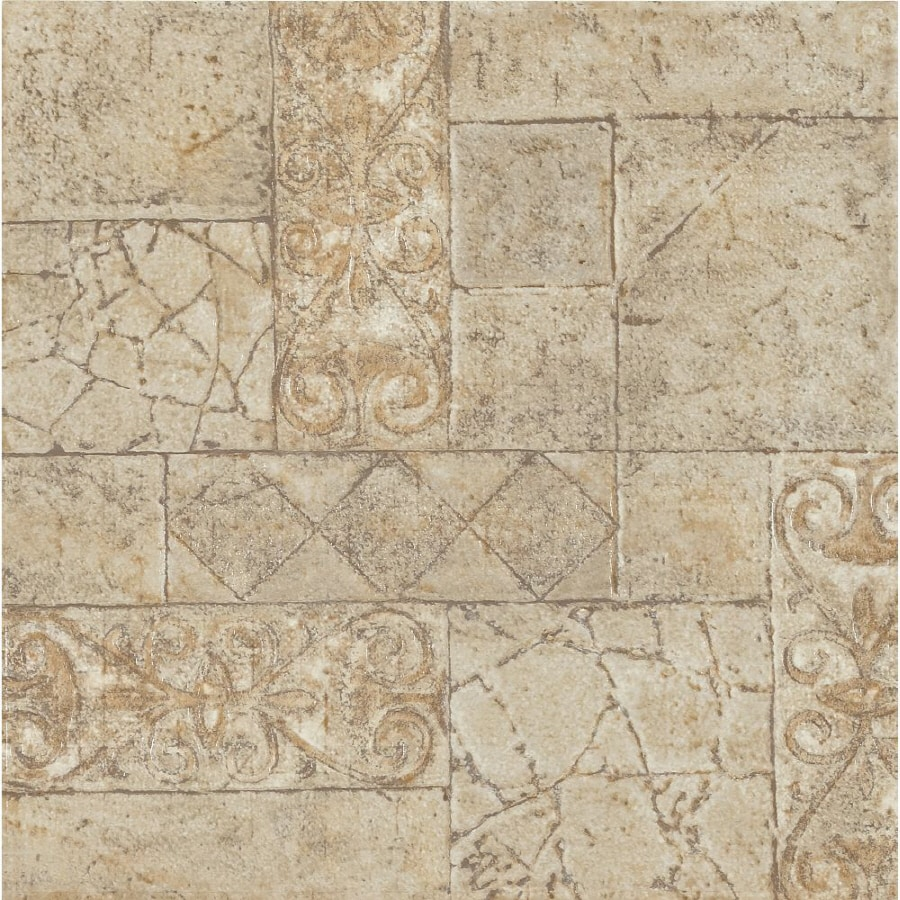 armstrong terraza 1 piece 12 in x 12 in toledo peel and stick pattern vinyl tile