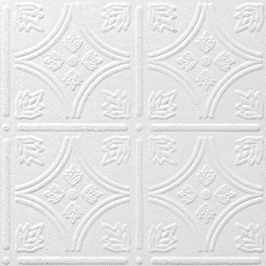 Shop Armstrong Tin Look Tintile Homestyle 40-Pack White