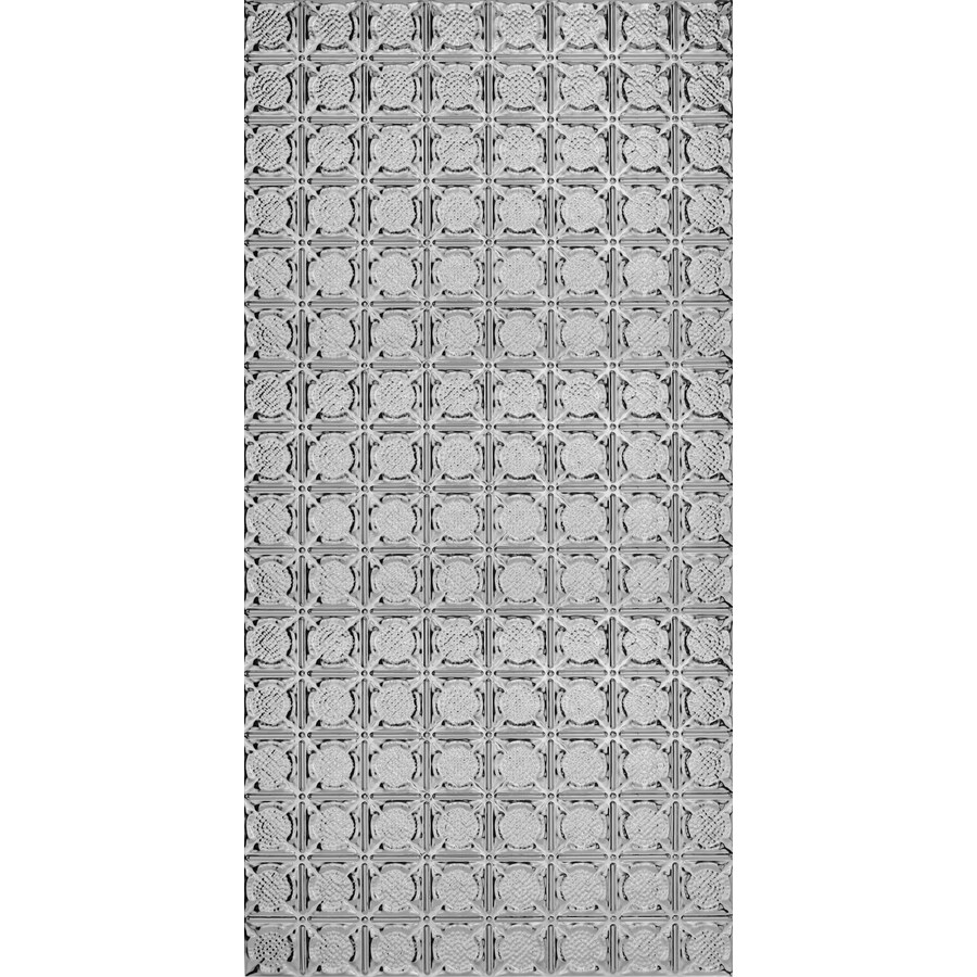 armstrong metallaire medallion nail up ceiling tile common 24 in x 48 in actual 24 5 in x 48 5 in