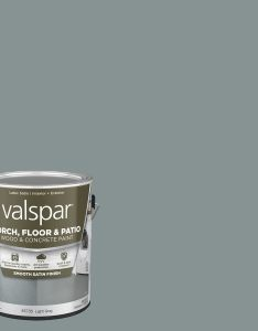Valspar light gray satin interior exterior porch and floor paint actual net contents also  at lowes rh