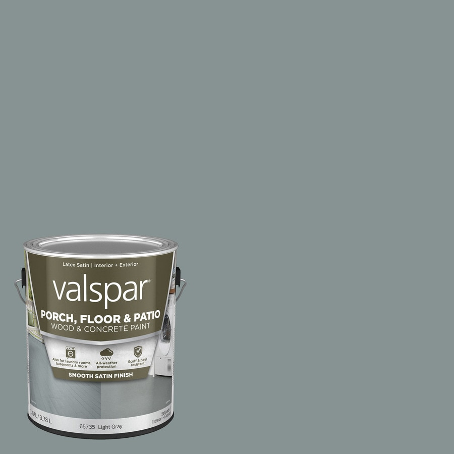 valspar light gray satin exterior porch and floor paint 1 gallon lowes com