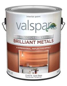 Valspar signature satin brilliant metals gold base metallic latex paint actual net contents fl oz also rh lowes