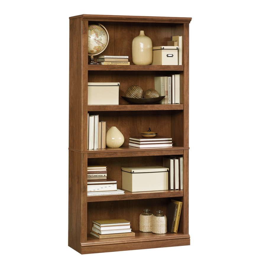 Shop Sauder Oiled Oak 5shelf Bookcase At Lowescom