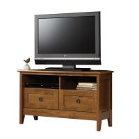 Shop Sauder August Hill Oiled Oak TV Stand at Lowes.com