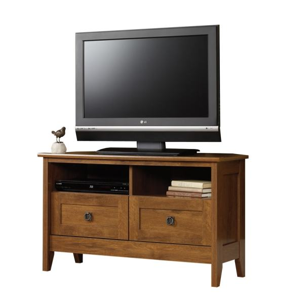 Sauder August Hill Oiled Oak Corner Television Stand