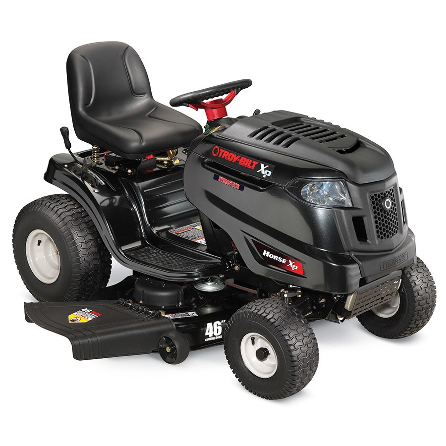medium resolution of troy bilt xp horse xp ca 22 hp hydrostatic 46 in riding lawn mower with kohler engine carb