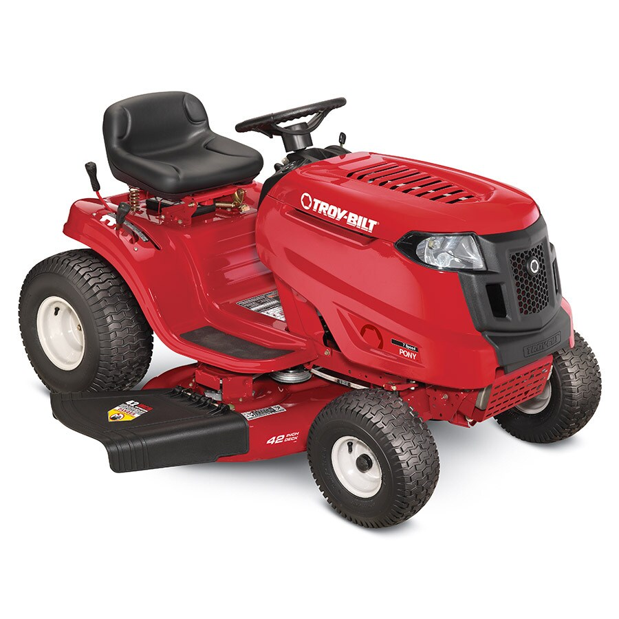 hight resolution of troy bilt pony ca 15 5 hp manual gear 42 in riding lawn mower with mulching capability kit sold separately carb