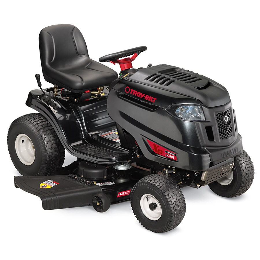 medium resolution of troy bilt xp horse xp 20 hp hydrostatic 46 in riding lawn mower