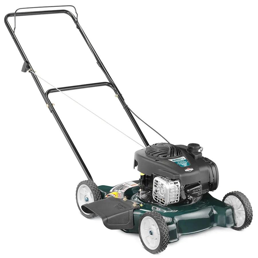 medium resolution of bolens 125 cc 20 in gas push lawn mower with briggs stratton engine