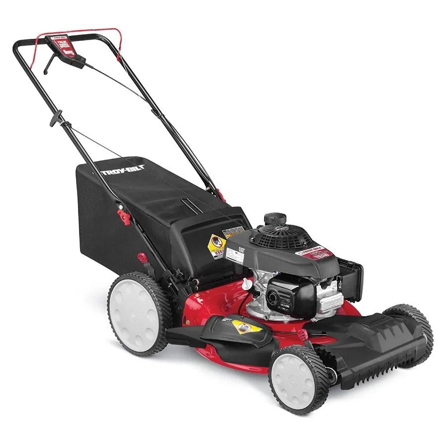 medium resolution of troy bilt tb240 160 cc 21 in self propelled gas lawn mower with honda engine