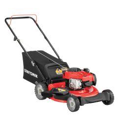 craftsman m110 140 cc 21 in gas push lawn mower with briggs stratton engine [ 900 x 900 Pixel ]