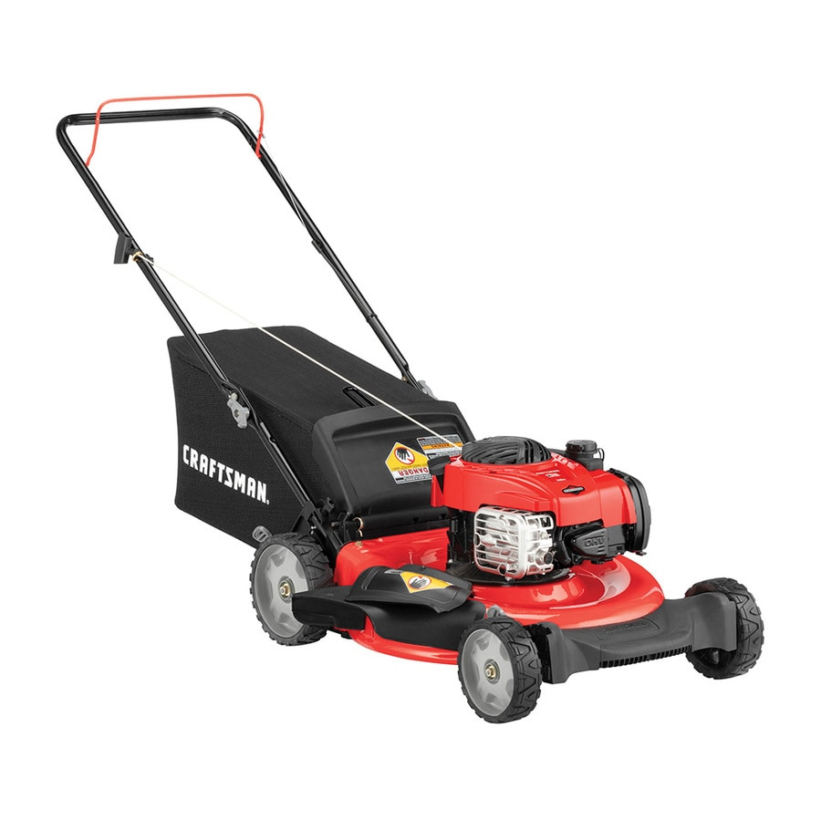 medium resolution of craftsman m110 140 cc 21 in gas push lawn mower with briggs stratton engine