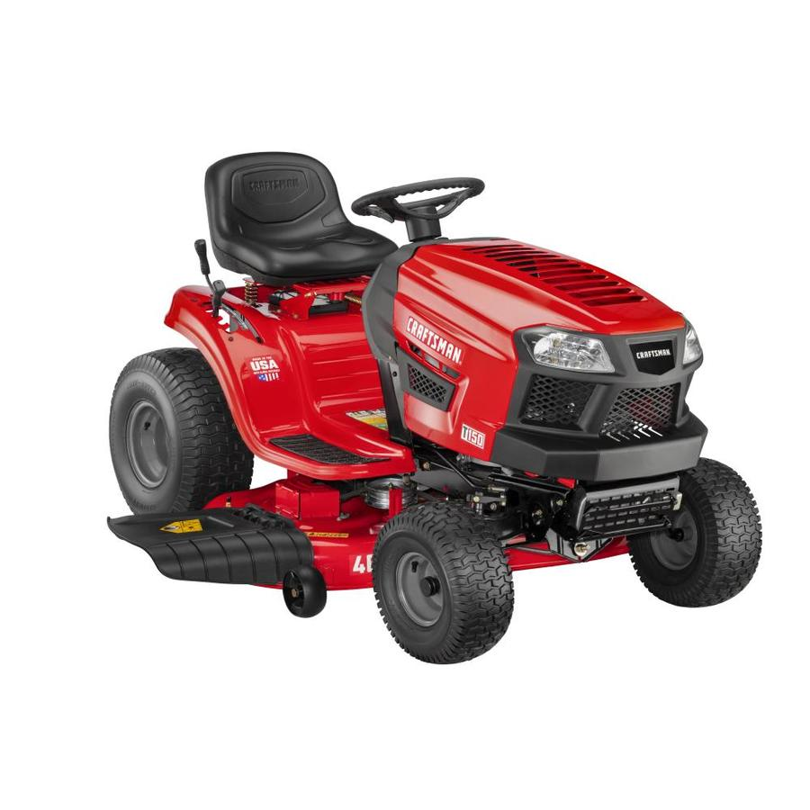 medium resolution of craftsman t150 19 hp hydrostatic 46 in riding lawn mower with mulching capability kit sold separately