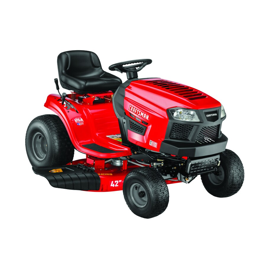 hight resolution of craftsman t110 17 5 hp manual gear 42 in riding lawn mower with mulching capability kit sold separately