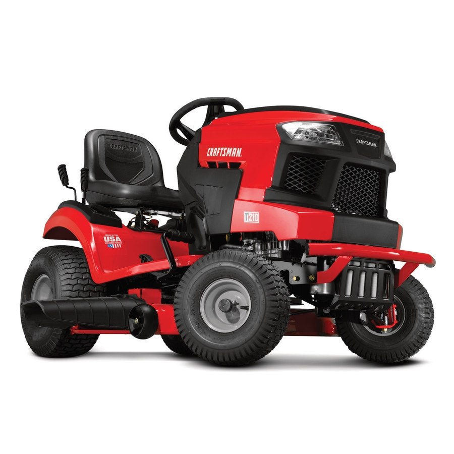 medium resolution of craftsman t210 turn tight 18 hp hydrostatic 42 in riding lawn mower with mulching capability kit sold separately