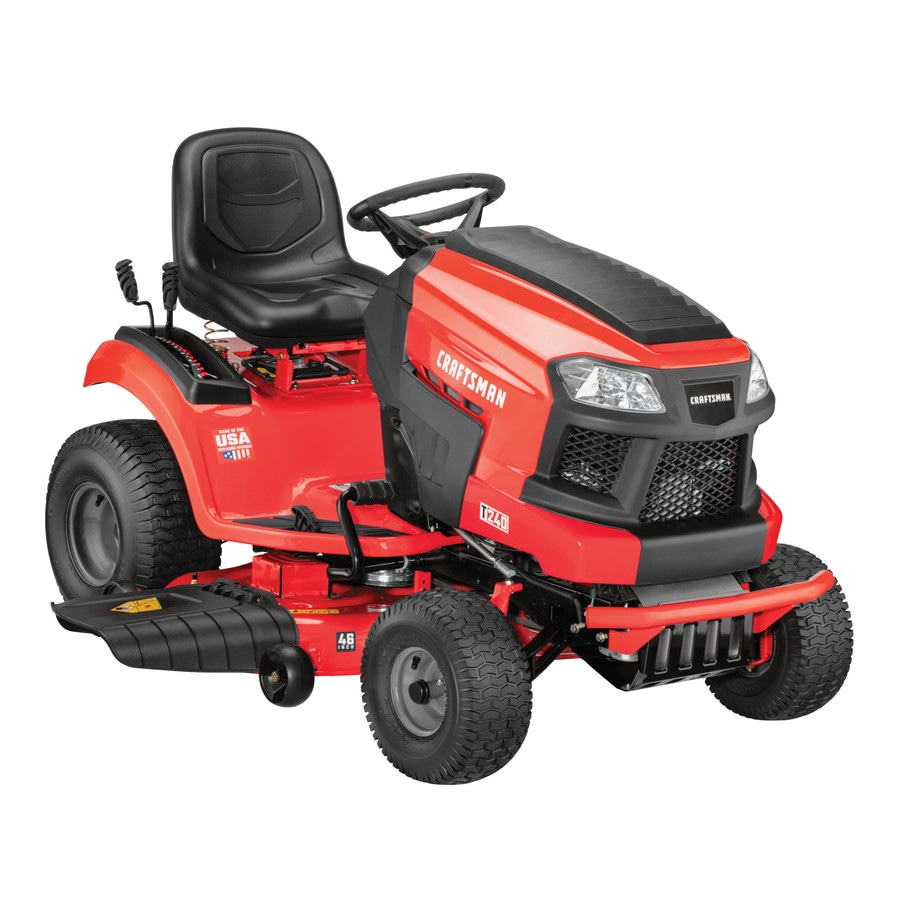 medium resolution of craftsman t240 turn tight 22 hp v twin hydrostatic 46 in riding lawn mower with mulching capability kit sold separately