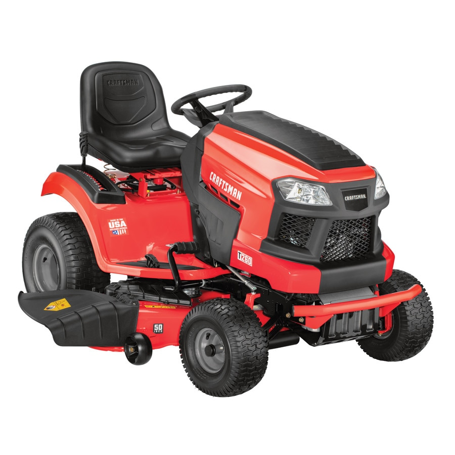 medium resolution of craftsman t260 turn tight 23 hp v twin hydrostatic 50 in riding lawn mower with mulching capability kit sold separately