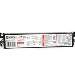 ge 2 bulb commercial electronic fluorescent light ballast [ 900 x 900 Pixel ]