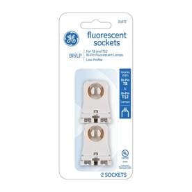 fluorescent light holder husqvarna 455 rancher parts diagram lighting accessories at lowes com ge 2 pack white lamp