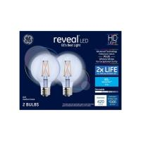 Shop GE Reveal 2-Pack 60 W Equivalent Dimmable Color ...