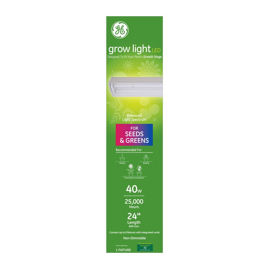 ge grow light led 40w balanced light spectrum 24in integrated fixture 1 pack